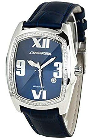 Chronotech Mens Analogue Quartz Watch with Leather Strap CT7504M-11D