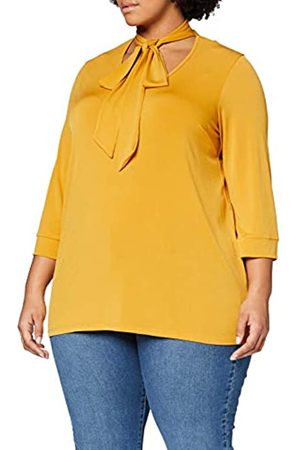 Dorothy Perkins Curve Women's Ochre Pussybow Top Blouse
