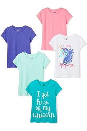 Spotted Zebra Girl's 5-pack Short Sleeve T-shirts Magic