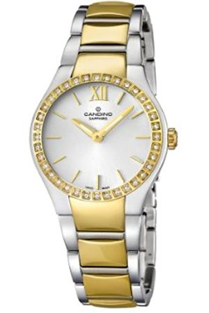 Candino Women's Quartz Watch with Dial Analogue Display and Gold Stainless Steel Bracelet C4538/1