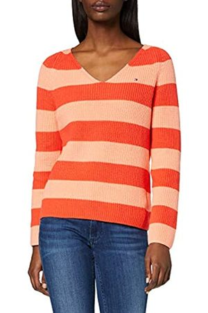 Tommy Hilfiger Women's HAYANA V-NK SWTR Jumper, (Island Coral/Bright Ver SWT 0Jq)