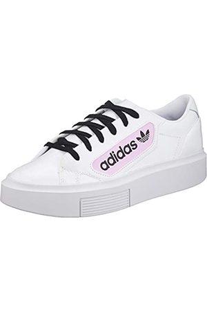 adidas Women's Sleek Super W Gymnastics Shoe, FTWR /Crystal /Clear Lilac