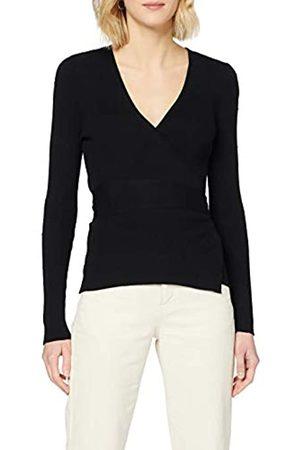 Dorothy Perkins Women's Textured Spot Wrap Jumper Pullover Sweater
