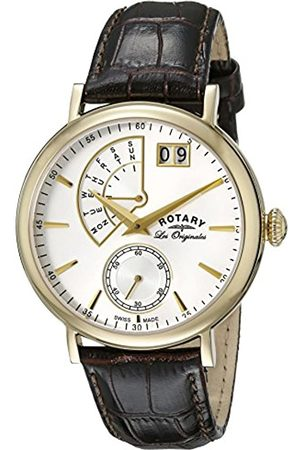 Rotary Men's Quartz Watch with Dial Analogue Display and Leather Strap GS90086/06