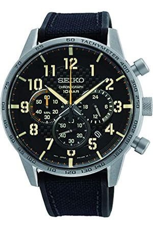 Seiko Men's Analog Quartz Watch with Textile Strap 1