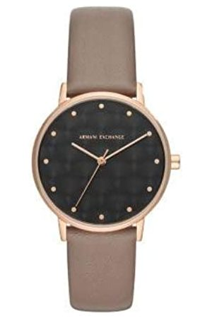 Armani Exchange Womens Analogue Quartz Watch with Leather Strap AX5553