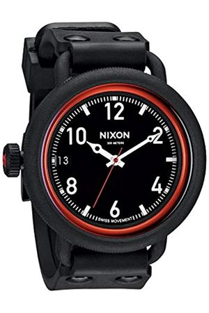 NIXON Men's Quartz Watch The October All / Red A488760-00 with Rubber Strap