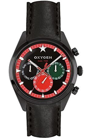 Oxygen Roma 40 Mens Quartz Watch with Dial Analogue Display and Leather Strap EX-SDT-ROM-40-CL-BL