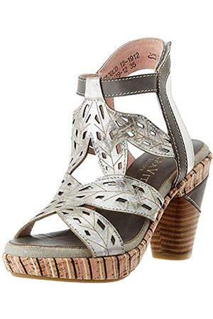 Laura Vita Women's Ficnalo 12 Open Toe Sandals, (Gris Gris)