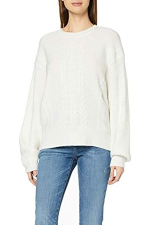 Dorothy Perkins Women's Cream Batwing Plain Cable Jumper Sweater