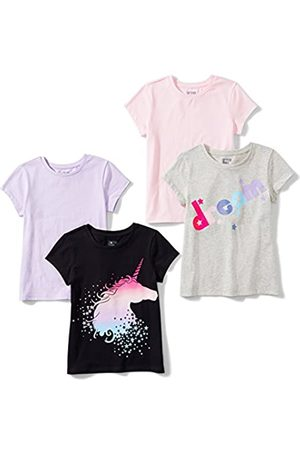 Spotted Zebra Amazon Brand - 4-pack Short-sleeve T-shirts Mystic, X-Small (4-5)