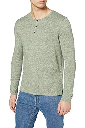 Tommy Jeans Men's Basic Henley Long Sleeve Top