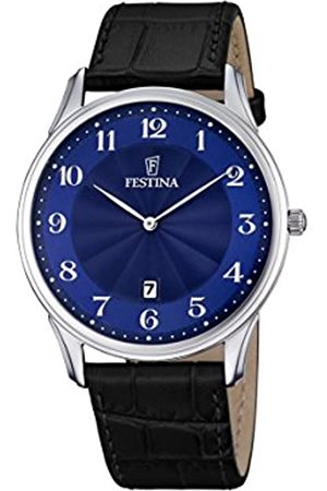 Festina CLASSIC Men's Quartz Watch with Dial Analogue Display and Leather Strap F6851/3