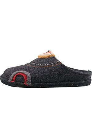 Haflinger Unisex Adults' Flair Baikal Open Back Slippers, (Graphit 77)
