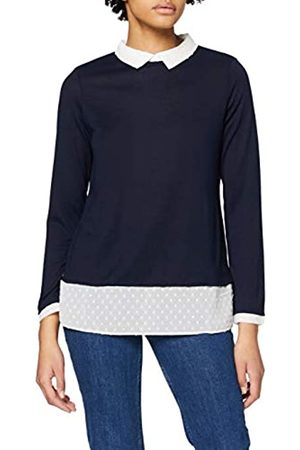 Dorothy Perkins Women's Navy Dobby 2in1 Top Blouse