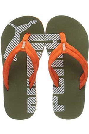 Puma Unisex Niño's Epic Flip V2 Ps Zapatos de Playa y Piscina, Verde (Deep Lichen -Firecracker 23)