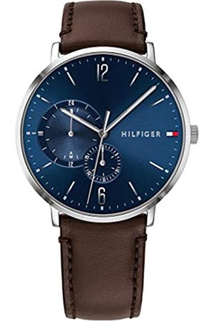 Tommy Hilfiger Mens Multi dial Quartz Watch with Leather Strap 1791508