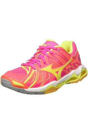 Mizuno Women's Wave Tornado X2 WOS Volleyball Shoes, (PinkGlo/ /IronGate 46)