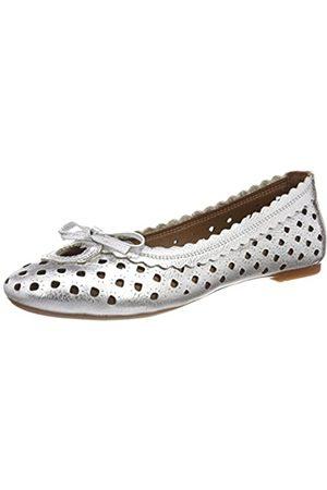 Andrea Conti Women's 0025822 Closed Toe Ballet Flats, (Silber 096)