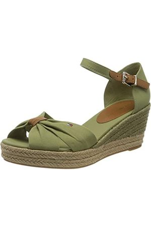 Tommy Hilfiger Women's Basic Opened Toe Mid Wedge Sandals, (Faded Olive L9f)