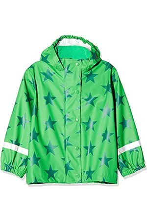 Green Cotton Boy's Rainwear Set Star Waterproof Jacket