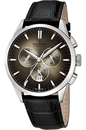 Candino Mens Chronograph Quartz Watch with Leather Strap C4517/6