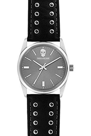 Zadig & Voltaire Unisex Date Quartz Watch with Leather Bracelet - ZVF240