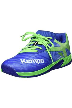 Kempa Unisex Kids' Wing 2.0 Junior Handball Shoes, (Azur/Vert Printemps 01)