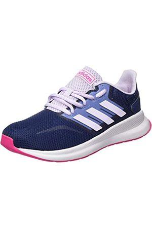 adidas Unisex Kids' Runfalcon K Running Shoe, Tech Indigo/Shock / Tint