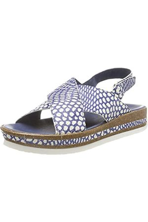 Think! Women's 686387_ZEGA Sling Back Sandals, (Indigo/Kombi 90)