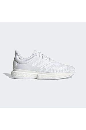 adidas Men's Solecourt M Primeblue Tennis Shoes, (Blanco/Blanco/Negbás 000)