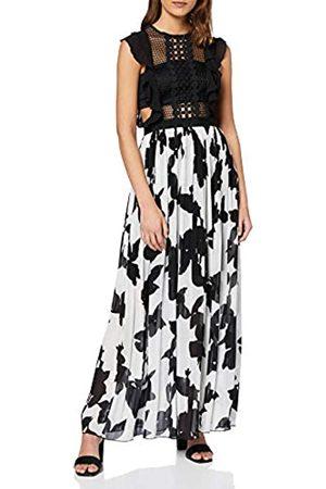 APART Fashion Women's Long Printed Mesh Dress Party