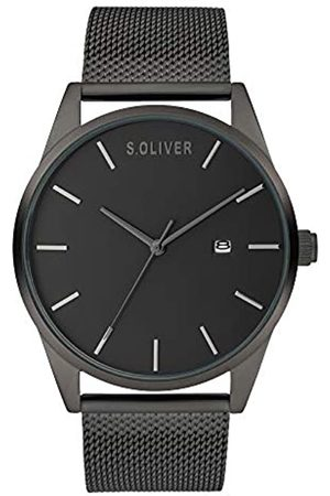 s.Oliver Men's Analogue Quartz Watch with Metal Strap SO-3991-MQ