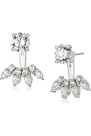 LA LUMIERE Platinum Plated Sterling Silver Made with Cubic Zirconia from Swarovski® Fashion Forward Earring Jackets