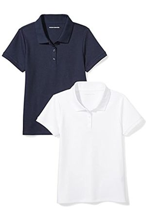 Amazon Essentials Uniform (2 Pack) Interlock Polo Shirt, Navy/