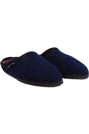 HAFLINGER Unisex Adults' Walktoffel Marble Open Back Slippers, (Ocean 76)