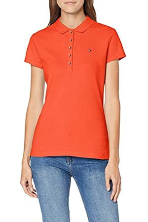 Tommy Hilfiger Women's SHORT SLEEVE SLIM POLO T - Shirt
