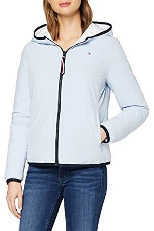 Tommy Hilfiger Women's TH Essential Revers Padded JKT Parka, (Breezy / Multi OTW 02T)