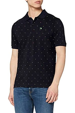 Scotch & Soda Men's Classic Pique Polo with Mini All-Over Print Shirt