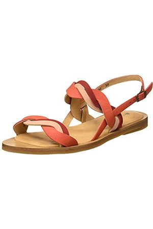 El Naturalista Women's N5188 Pleasant Tulip Open Toe Sandals, (Coral Mixed Coral Mixed)