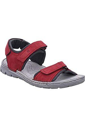 Josef Seibel Men's John 06 Ankle Strap Sandals, (Rot-Kombi Te796 401)