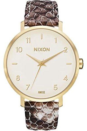 NIXON Women's Analogue Quartz Watch with Leather Strap A1091-2890-00