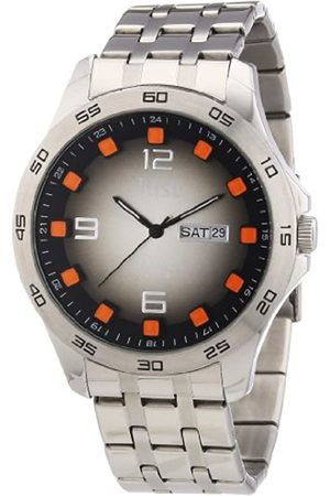 Just Watches Men's Quartz Watch 48-S3455-BK-OR with Metal Strap