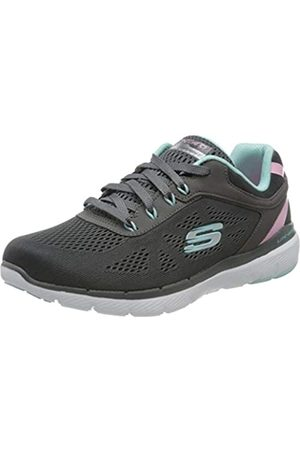 Skechers Women's Flex Appeal 3.0-Quick Voyage Trainers, (Charcoal/Turquoise Cctq)