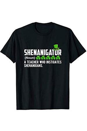 Funny Saint Patrick's Day Gift Apparel Shenanigator A Teacher Who Instigates Shenanigans Gift T-Shirt