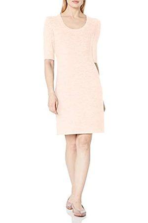Daily Ritual Cozy Knit Puff-Shoulder Dress