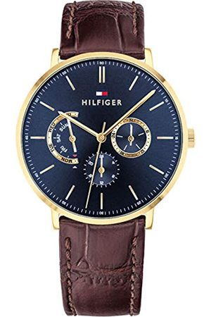 Tommy Hilfiger Mens Multi dial Quartz Watch with Leather Strap 1710376