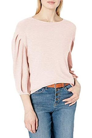 Daily Ritual Cozy Knit Bateau Pleat-Sleeve Top Shirt