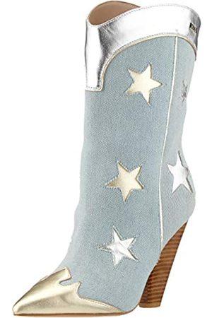Liu Jo Women's Guenda 21-Bootie Cowboy Boots, (Denim 00737)