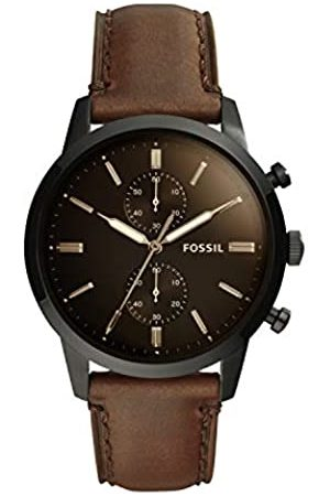 Fossil Mens Chronograph Quartz Watch with Leather Strap FS5437